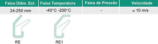 V-Ring e Face Axial Tipo RE Face Axial
