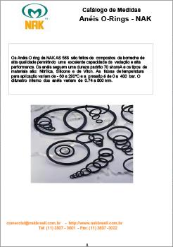 Tabela de Medidas - Anéis O-Ring